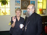 Dobie proudly showing Fr Zivko