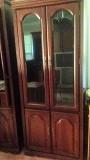 2 Identical Half-Glass Curio Cabinets